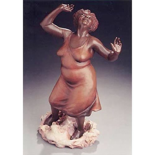 I have this wonderful sculpture on the space behind my sink so I see her every day. I love her confidence and her joy in her wonderfully voluptuous body. It's by S.T. Buonaiuto.