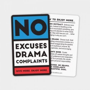 No excuses, drama or complaints after divorce