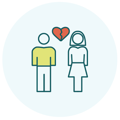considering divorce icon