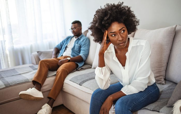Couple resolving conflicts for divorce.